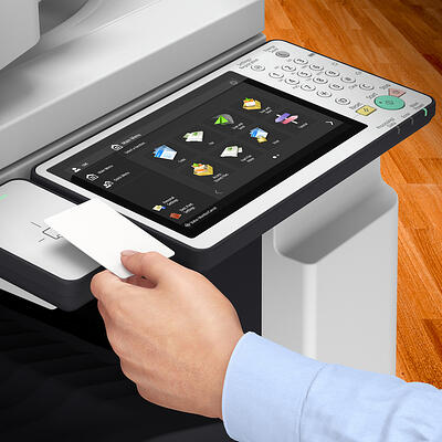 Secure Print proximity cards for copiers