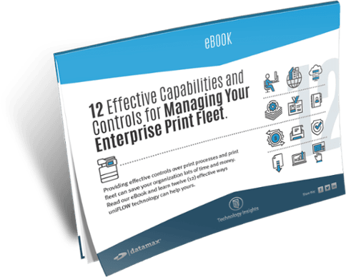 12 Effective Capabilities and Controls for Managing Your Enterprise Print Fleet eBook